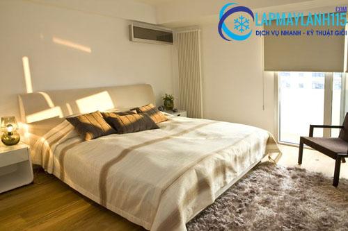 Lắp lệch sang trái hoặc phải của giường ngủ