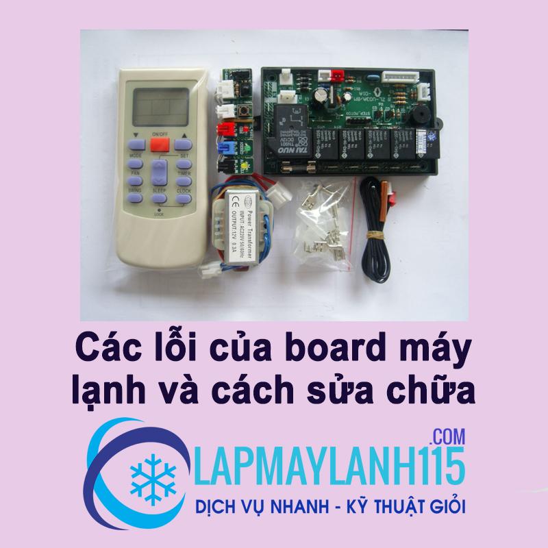 Các lỗi board máy lạnh và cách sửa chữa